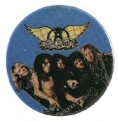 Aerosmith - 'Group Blue' Button Badge